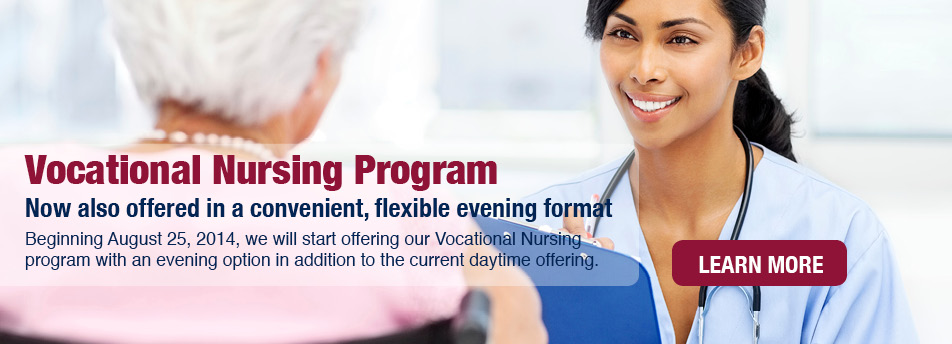 DNI's vocational nursing program is offered in a convenient, flexible evening format.